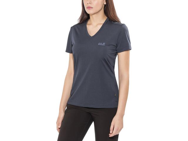 Jack Wolfskin Crosstrail - T-shirt manches courtes Femme - bleu